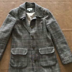 Banana Republic Plaid Wool Blend Coat Size XS